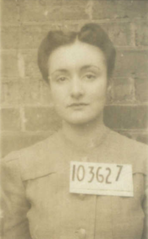 Joan Leake Hall WW2 record, NAA, mugshot print, cropped.png