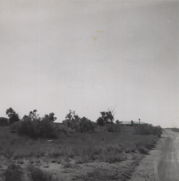 Site of Hall family house, Cossack, 1963, cropped.png