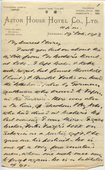 Letter from T.H. Barker to his wife Mary, 19 October 1903, p01.png