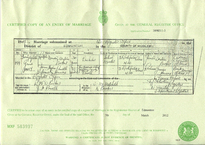 Marriage certificate of Ralph and Nyria Denton-Barker 1947.png