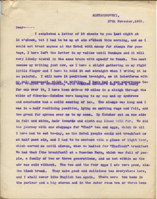 Letter from T.H. Barker to his wife Mary, 27 November 1903 p01.png