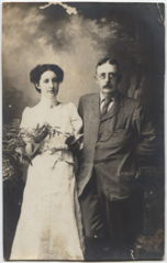 Helen with Tom Lodge, 1909.png