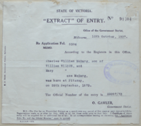 C.M. Wilson, extract of birth certificate, 1937-10-12.png