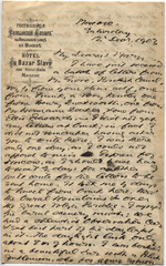 Letter from T.H. Barker to his wife Mary, 12 December 1903, p1.png
