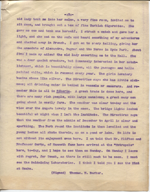 Letter from T.H. Barker to his wife Mary, 23 November 1903 p14.png