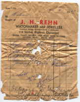 Carriage clock 1967 repair receipt (front).png