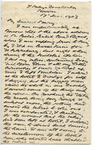Letter from T.H. Barker to his wife Mary, 14 December 1903, p1.png