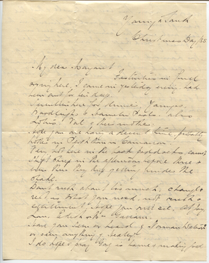 Letter from Aubrey Hall to Margaret Hall, 1935-12-25, p1.png